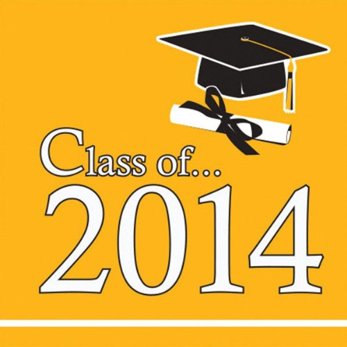 Yellow 2014 Graduation Lunch Napkins (36 ct)