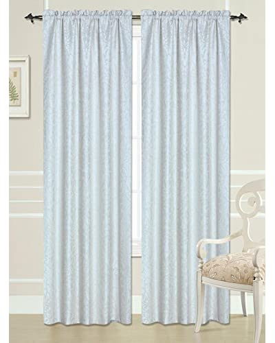 Beatrice Home Fashions Florence Curtain Panel, Ivory