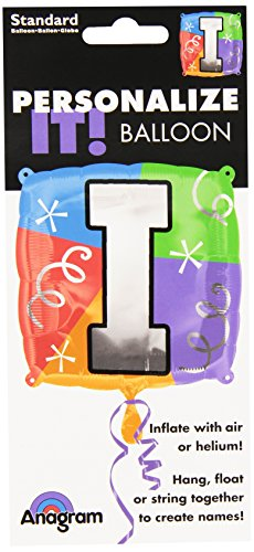 Anagram International Letter I Quad Package Balloon, 18""
