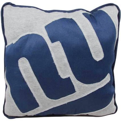 NFL New York Giants Big Logo Applique Pillow