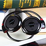 Queen Shop B503 Black Bluetooth Stereo Headphone for Music Stream & Handsfree Calling w/ 20 Hrs Extended Talk and Playback Time 400 Hrs Standy Time Built-in Mic A2dp Avrcp Bluetooth Adapter As Gift