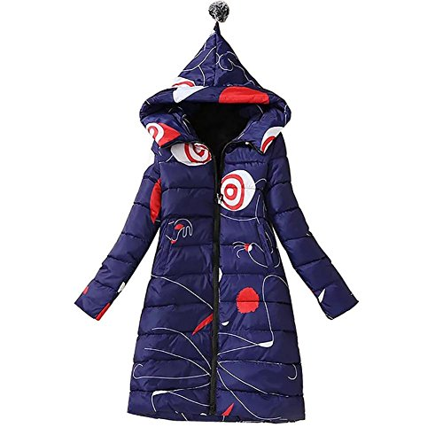 YUYU-paissie-Long-Down-Jacket-avec-capuchon-bleu-mode-Garder-au-chaud