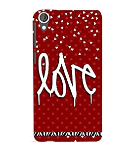 LOVE QUOTE IN A RED BACK GROUND 3D Hard Polycarbonate Designer Back Case Cover for HTC Desire 820::HTC Desire 820Q::HTC Desire 820S