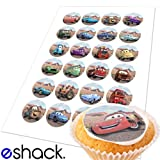 24x Disney Pixar Cars Edible Cake Toppers (Birthday Cupcake Topper by eShack)