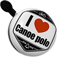Bicycle Bell I Love canoe polo by NEONBLOND