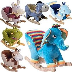 Schaukeltier / Baby Kind Schaukel (mit Sicherheitsgurt und Kippschutz) (ESEL Donkey Darling)