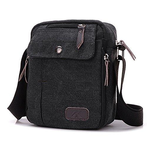 BYD - Uomo Unisex Female Mini Borse a spalla Crossbody Canvas Bag Borse a spalla Mutil Pockets Design