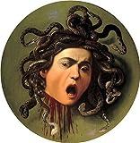 Caravaggio (Head of Medusa, c.1596/98) Canvas Art Print Reproduction (21.7x21.7 in) (55x55 cm)