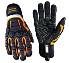 Cestus Pro Series Deep II Gel Impact Glove, Work, Cut Resistant, Medium, Black (Pack of 1 Pair)