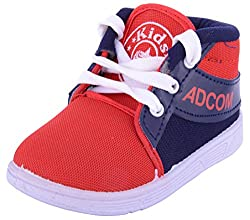 ADCOM Boys Red and Blue Cotton Sneakers - 10 UK