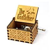 The Godfather Music Box- 18 Note Mechanism Antique Carved Wooden Music Box Crafts (The Godfather) (Color: The Godfather, Tamaño: small)