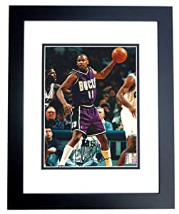Glenn Robinson Autographed Hand Signed Milwaukee Bucks 8x10 Photo - BLACK CUSTOM... by Real Deal Memorabilia