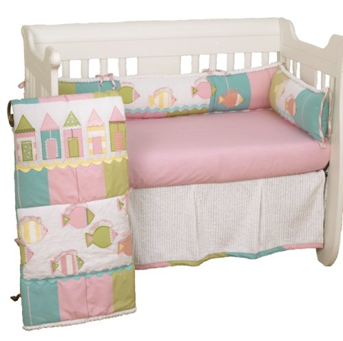 Cotton Tale Designs Beach Cottage 4 Piece Crib Bedding Set