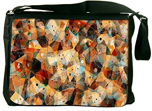 f58e83b718c5 Snoogg Snoogg Geometric Laze Computer Padded Compartment Carrying Case  Laptop Notebook Shoulder Messenger Bag (Multicolor