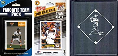 MLB Pittsburgh Pirates Licensed 2011 Topps Team Set and Favorite Player Trading Cards Plus Storage Album