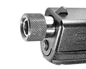 "Ultimate Arms Gear Pistol Handgun Black Phosphate Coated Steel Thread Protector Cap Made in The USA For 1/2""x28 TPI Thread Pattern 9mm Glock 17 19 26 31 34 .357 Bore & Smaller"
