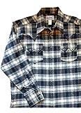 ロックマウント flannel heavy cotton plaids Western Shirt RM-SP647 (S, black)
