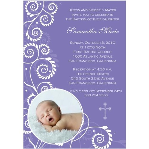 Baptism Invitations Photo front-277153