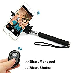 Extendable Self Portrait Selfie Handheld Stick Monopod + 3 in 1 Cell Phone Camera Lens Kit worth Rs.150 FREE FREE FREE
