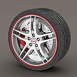 Chevrolet Cruze rot Rimblades Leichtmetallrad Rand Ring Anfahrschutz Reifen Tire Guard Rubber Zierleiste
