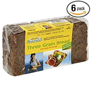 Mestemacher Bread Three Grain, 17.6-Ounce (Pack of 6)