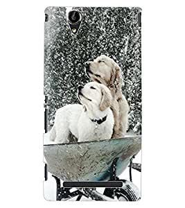 ColourCraft Cute Dogs Design Back Case Cover for SONY XPERIA T2 ULTRA DUAL D5322