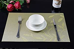 sicohome placemats leaf theme pvc dining room placemats