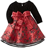 Blueberi Boulevard Baby Girls Infant Flock Velvet Dress