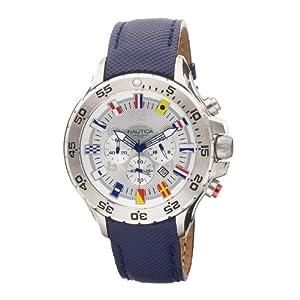 Nautica Men's N16530G NST Chronograph Blue Polyurethane Watch