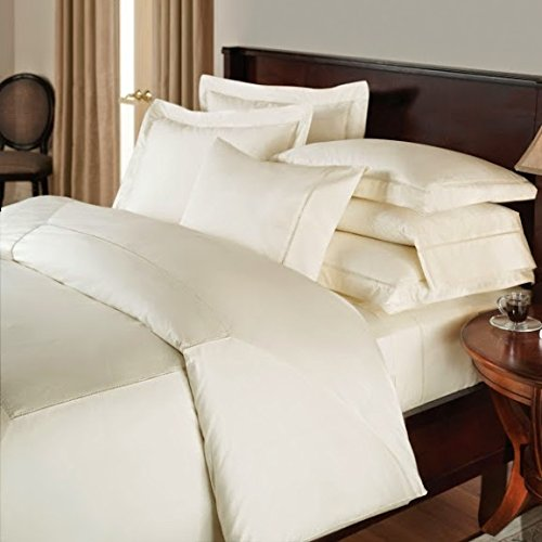 Srp Linen 400-Thread-Count Super Soft Zipper Closure Designer 3-Piece Luxury Duvet Cover Set Queen Solid Ivory front-639532