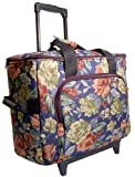 Hemline Sew Easy Sewing Machine Trolley - Blue Floral