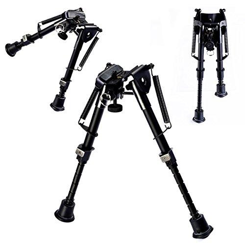 Goplus® Hunting Rifle Bipod 6″ to 9″ Adjustable Spring Return Sniper Sling Swivel Mount