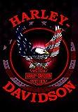 Russ Berrie 644579 Harley-Davidson Patriotic Eagle Garden Flag