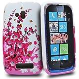 Phonedirectonline - Cover in silicone, design floreale, per Nokia Lumia 610, colore: Lilla