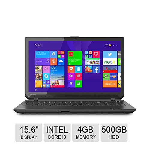 Toshiba Satellite 15.6″ Touch-screen Notebook, Intel i3, 4GB Memory, 500GB Hard Drive, Optical Drive *FREE UPGRADE TO WINDOWS 10