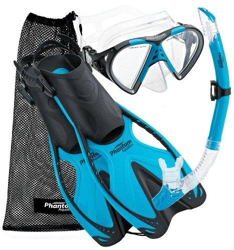 Phantom Aquatics Speed Sport Mask Fin Snorkel Set with Mesh Bag, Adult phantom sport mask s m l sizes 5 different colors for choose training sport mask unisex use mask free shipping