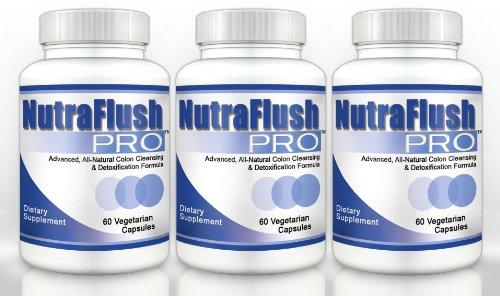 Nutraflush Pro (3 Bottles) - Complete Colon Cleanser, Full Body Detox Cleanse And Diet Supplement