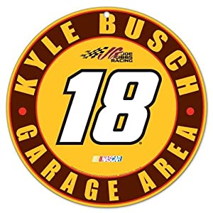 Buy Kyle Busch #18 Garage Area Round Sign Collectible NASCAR by WinCraft