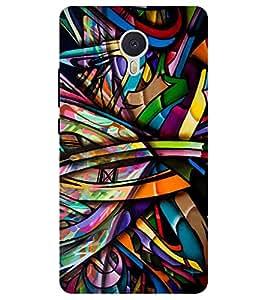 Chiraiyaa Designer Printed Premium Back Cover Case for YU Yunicorn / Yu unicorn (colorful stripes dark) (Multicolor)