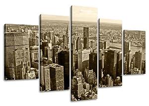 Visario 5514 - Fotografía sobre lienzo (160 x 80 cm, 5 partes), diseño de Nueva York por Visario - BebeHogar.com