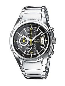 CASIO EF-512D-1AVEF Edifice - Reloj de caballero de cuarzo, correa de acero inoxidable color plata