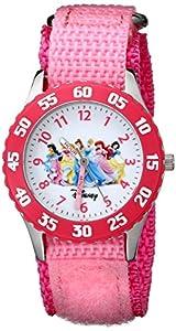 Disney Girls' W000042 Time Teacher Disney Princess Watch with Pink Nylon Band