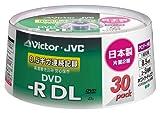 Victor データ用DVD-R DL (片面2層) 8.5GB 8倍速 ワイドホワイトプリンタブル 30枚 日本製 CD-R85CS30 VD-R85CS30