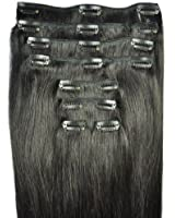 FULL HEAD of 100% Human Hair, Clip-in Hair Extensions - 20 inch, Deluxe, Quality A Grade, Remy Hair. GREAT VALUE, 140 grams of remy hair (150 grams set weight) - TRIPLE WEFT.