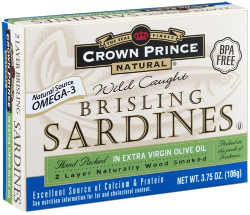 Crown Prince Natural Two Layer Brisling Sardines in Extra Virgin Olive Oil, 3.75-Ounce... by Crown Prince