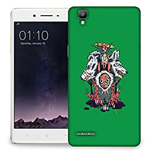 Snoogg Wild Animals Designer Protective Back Case Cover For OPPO F1