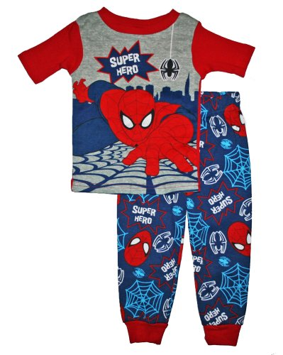 Spiderman Super Hero Toddler Boys Cotton Pajama Set (5T) back-516989