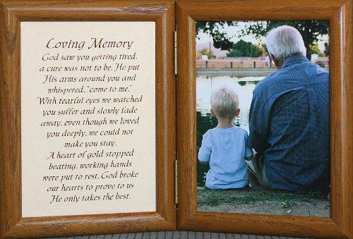 5x7 LOVING MEMORY ~ Hinged Frame *Memorial*Bereavement*Condolence*Sympathy*Funeral