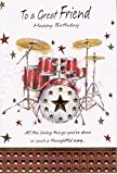 To A Great Friend Happy Birthday Drum Set Birthday Card