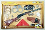Wild West Western Cowboy Super Play Set Rifle and Pistol Set. Toy Gun Kids Play Set